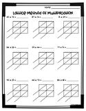 Lattice Multiplication Worksheets (3.NBT.2 and 4.NBT.5)