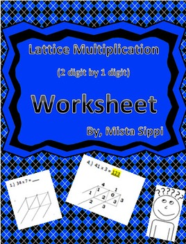 Lattice Multiplication with 2 digit by 1 digit Worksheet