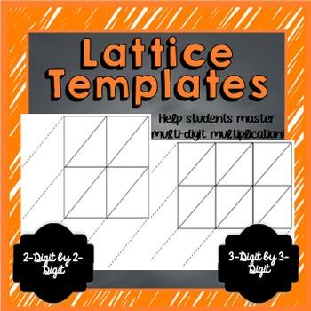Lattice Templates (2-Digit by 2-Digit & 3-Digit by 2-Digit)