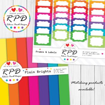 Lattice circles pattern, bright rainbow colours digital paper set/ backgrounds