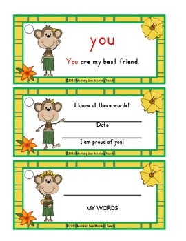 Laua Monkey (Pre-Primer Dolch Sight Word Ring)