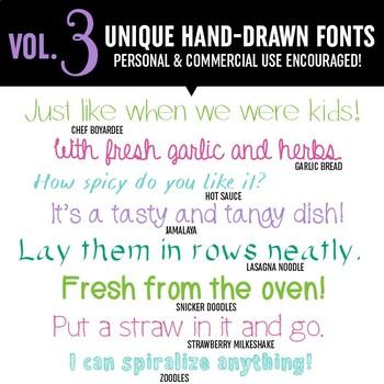 Laugh Eat Learn Fonts // Growing Bundle