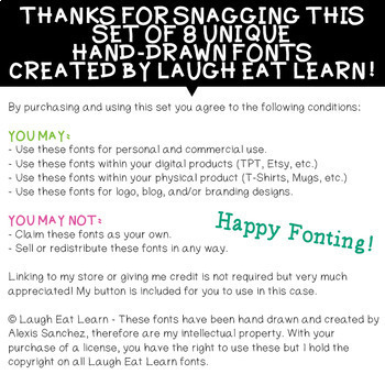 Laugh Eat Learn Fonts // Growing Bundle