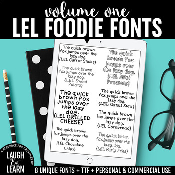 Laugh Eat Learn Fonts // Volume 1