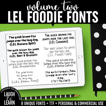 Laugh Eat Learn Fonts // Volume 2