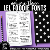 Laugh Eat Learn Fonts // Volume 3