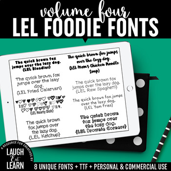 Laugh Eat Learn Fonts // Volume 4