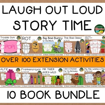 Laugh Out Loud 10 Book Bundle  Over 150 Extension Activities NO PREP