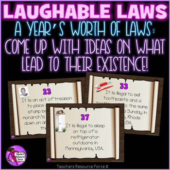 Writing Prompts / Creative Writing / Bell Ringers: Funny Laws Challenge
