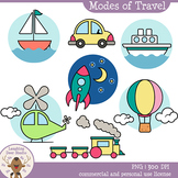Laughing Deer Studio-Modes of Travel Clip Art