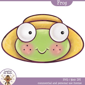 Laughing Deer Studio Painted Frog Face Clipart