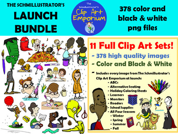 Launch Bundle - The Schmillustrator's Clip Art Emporium