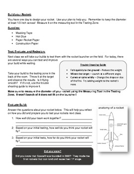 Launch It: Paper Rocket Launching Activity