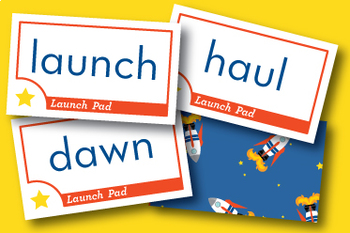 Launch Pad abstract au and aw Phonics Game - Words Their Way Game