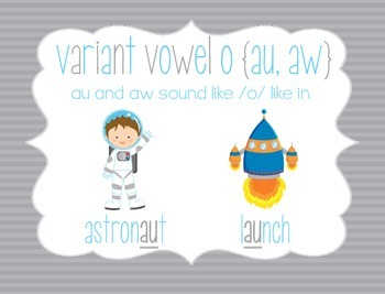 Launch Into Space Variant Vowel O Au Aw Word Work By