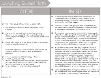 Launching Guided Math (A 10 Day Plan for the First 2 Weeks of School)