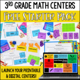 Launching Guided Math Centers: 3rd Grade Math Centers Star