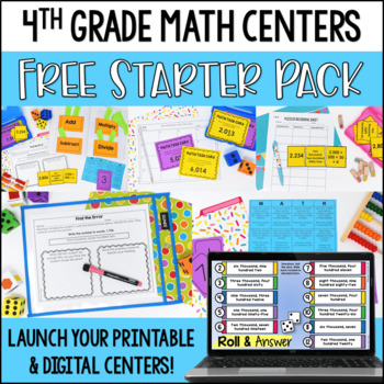 Launching Guided Math Centers: 4th Grade Math Centers Starter Pack