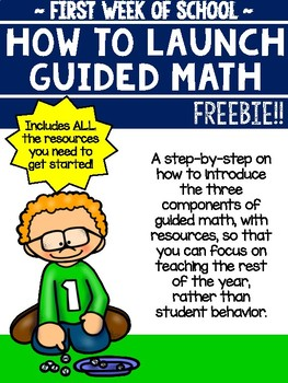 Launching Guided Math FREEBIE!