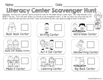 Launching Literacy Centers-First 30 Days Grab & Go Pack