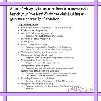 Launching Readers' Workshop -- Reading Minilessons to Grow and Develop Readers
