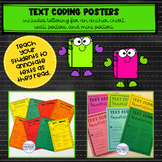 Reading Workshop TEXT CODING Posters