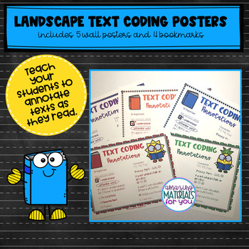 Launching Readers Workshop TEXT CODING Posters and Bookmarks