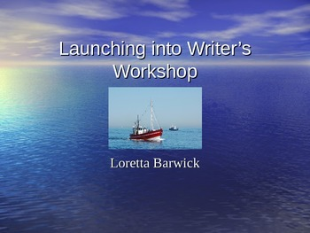 Launching Writer's Workshop