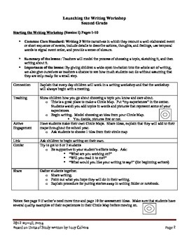 Launching Writer's Workshop 2nd grade