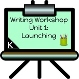 Launching Writing Workshop for-Kindergarten