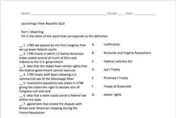 Launching a New Republic Quiz