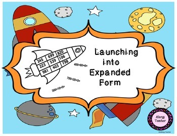 Launching into Expanded Form Math Game