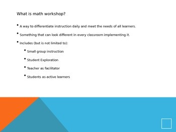 Launching the Math Workshop