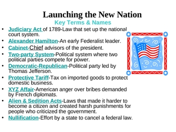 Launching the New Nation-Chp. 2,Sec.4