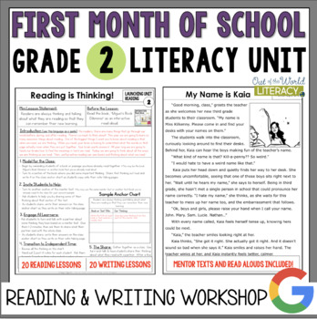 Launching the Reader's & Writer's Workshops: Grade 2...40