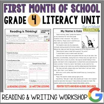 Launching the Reader's & Writer's Workshops: Grade 4...40 Lessons!!!