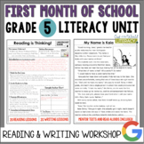 Launching the Reader's & Writer's Workshops: Grade 5...2nd