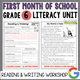Launching the Reader's & Writer's Workshops: Grade 6...2nd