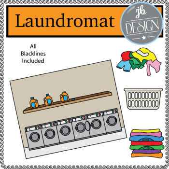 Laundromat Scene (JB Design Clip Art for Personal or Commercial Use)