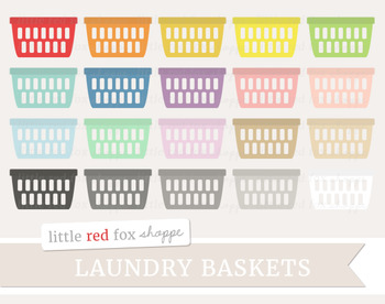Laundry Basket Clipart; Cleaning
