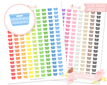 Laundry Basket Printable Planner Stickers