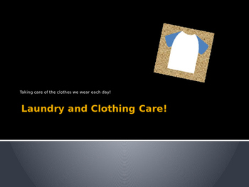 Laundry Care PowerPoint