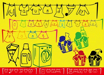 Font - Laundry Clothesline Teacher Font