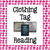 Laundry: Clothing Tag Reading