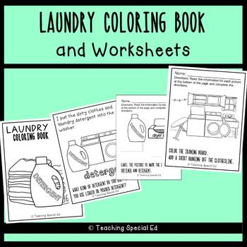 Laundry Coloring Book & Worksheets