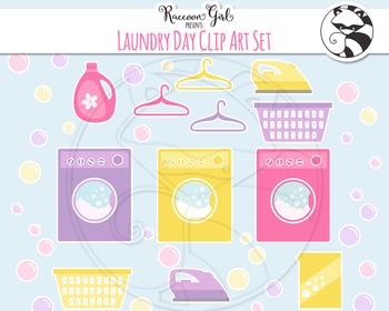 Laundry Day Clipart Set