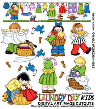 Laundry Day Kids Clipart