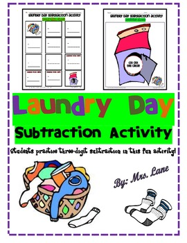 Laundry Day Subtraction Activity
