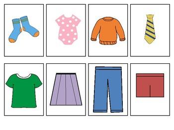 Laundry File Folder Game