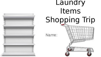 Laundry Items Shopping Trip- Google Slides